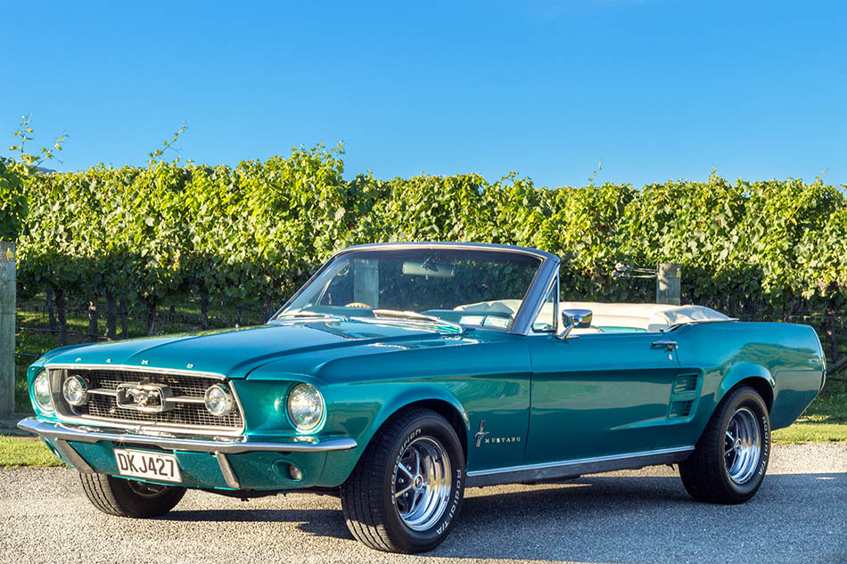Cruise in our iconic 60's Mustang Convertible for an unforgettable day!